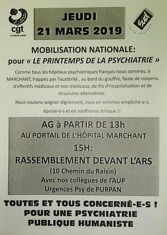 """Action """"Le printemps de la psychiatrie"""" @ ARS"""