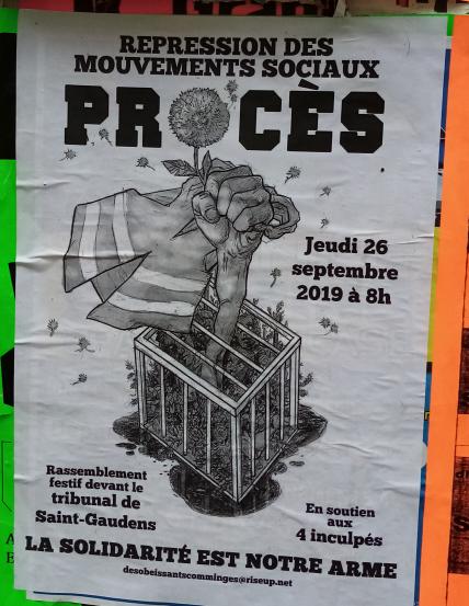 Grève contre la répression à l'appel de Solidaires 31 et Sud éducation 31 @ Saint Gaudens