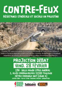 Projection - débat sur la Palestine : résistance syndicale et sociale @ Salle Maude Sykes Andral - métro Marengo SNCF