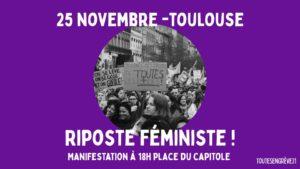 manifestation contre les violences faites aux femmes  et aux minorités de genre @ place du capitole