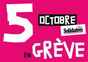 Grève interprofessionnelle 5 octobre